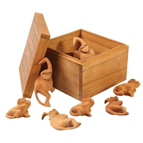 Wood Box-O-Monkeys