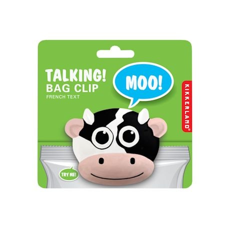 Set Of 3 Mooing Cow Bag Clips