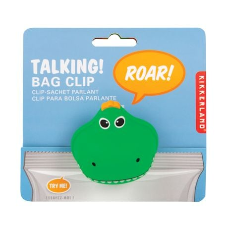 Set Of 3 Roaring T-Rex Bag Clips