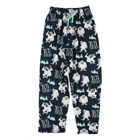 Yeti for Bed Lounge Pants-Humor Lounge Pants