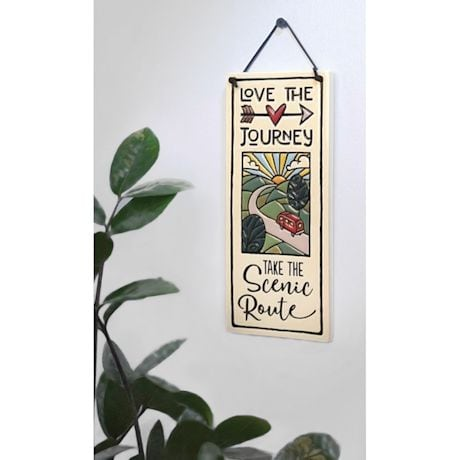 Love The Journey Ceramic Plaque