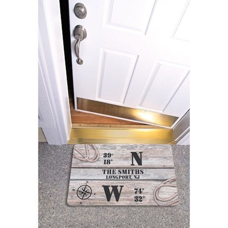 Personalized Coordinates Doormat