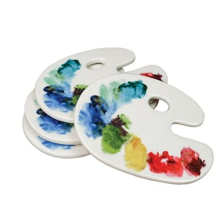 Artist Palette Cheese Tray And Coaster