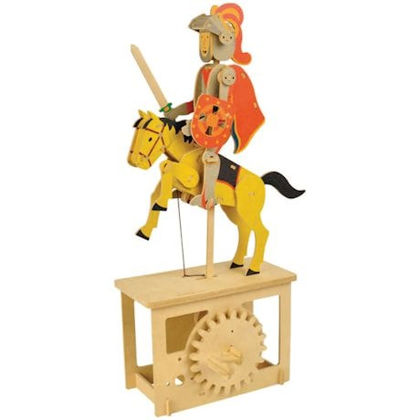 Wooden Mechanical Red Knight Construction Kit