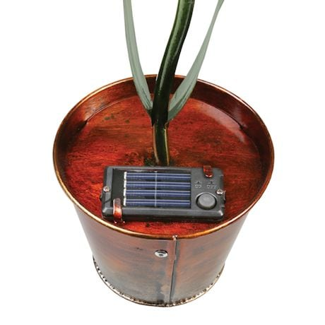 Red Solar Flower Pot