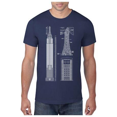 Landmark Building Blueprint T-shirts