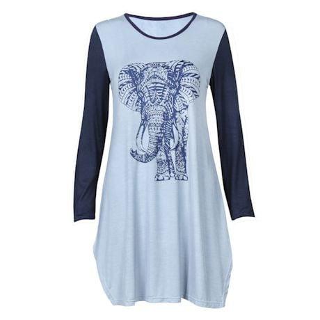 Blue Elephant Tunic