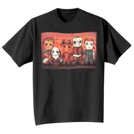 Lineup Horror Movie T-Shirts