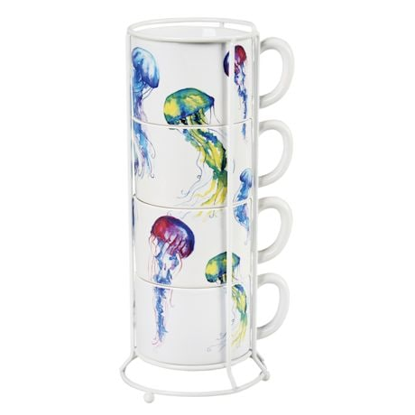 Jellyfish Stackable Mug Set