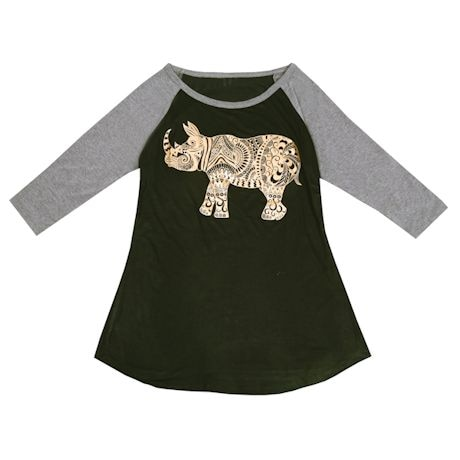 Rhino ¾-Sleeve Top