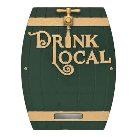 Personalized Drink Local Barrel Plaque