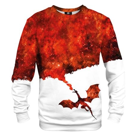 Red Fire Dragon Crewneck