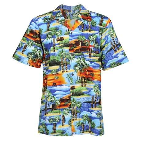 Tiki Men Button-Up Camp Shirt