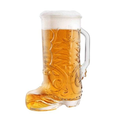 Glass Cowboy Boot Mug