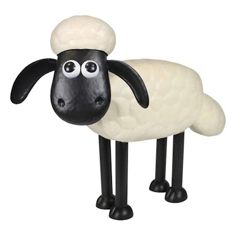 Shaun The Sheep And Cousin Timmy Garden Sculptures