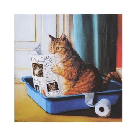 Cat In Litter Canvas