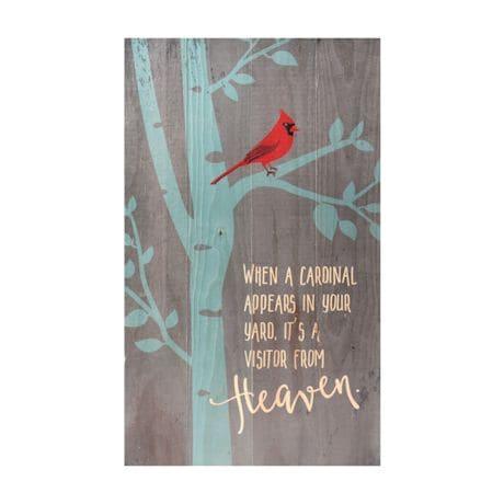 Cardinal Wood Plaque