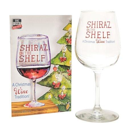 Shiraz on the Shelf Wine Glass and Book Gift Set