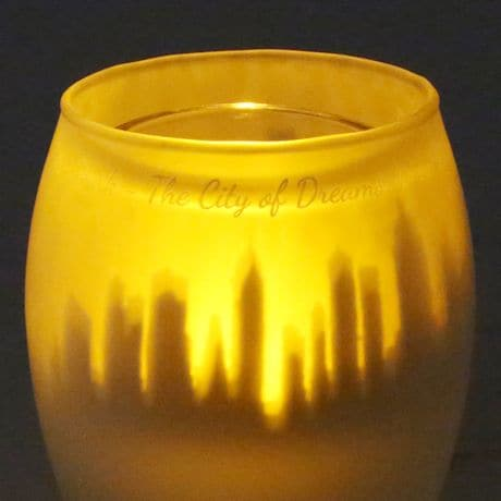 NYC Cityscape Shadow Candle