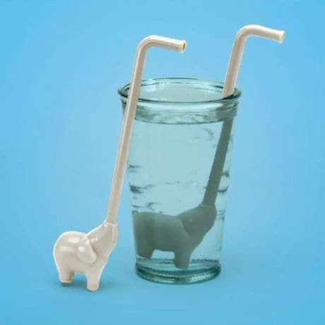 Elephants Reusable Straw Sets