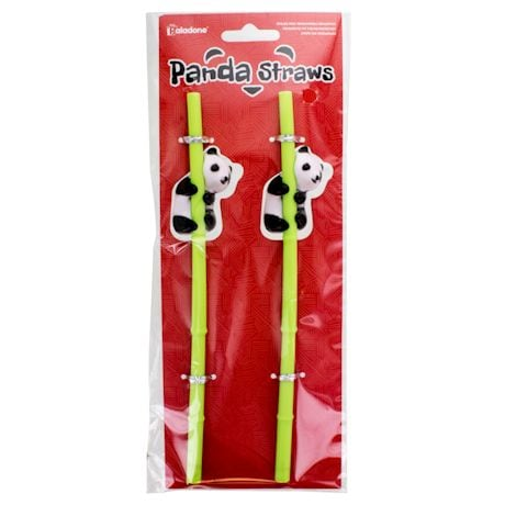 Pandas Reusable Straw Sets