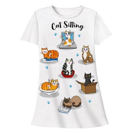 Cat Sitting Sleepshirt