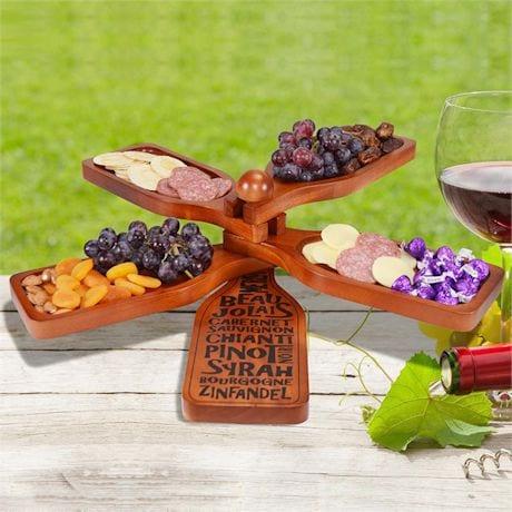 Wine Appetizer Server/Plate Set