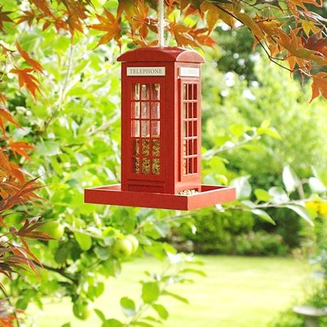 British Phone Box Bird Feeder