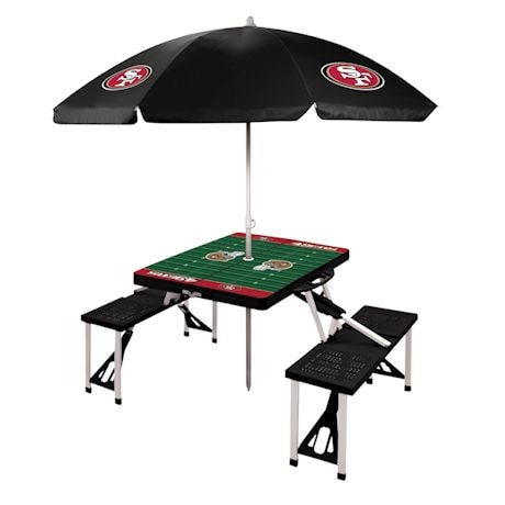 NFL Picnic Table With Umbrella