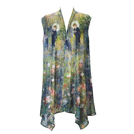 Monet and Van Gogh Sheer Long Vest