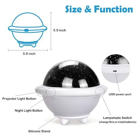 UFO Space Projector Light
