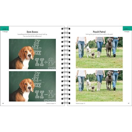 Find The Differences Dog - Brain Games Book