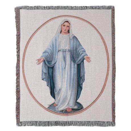 Virgin Mary Tapestry Blanket