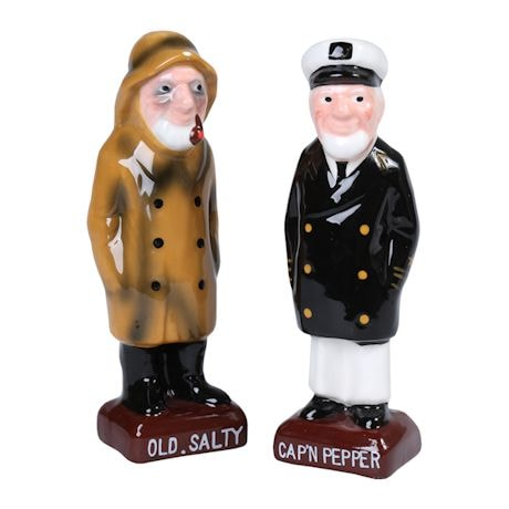 Cap'n Pepper And Old Salty S&P Shakers