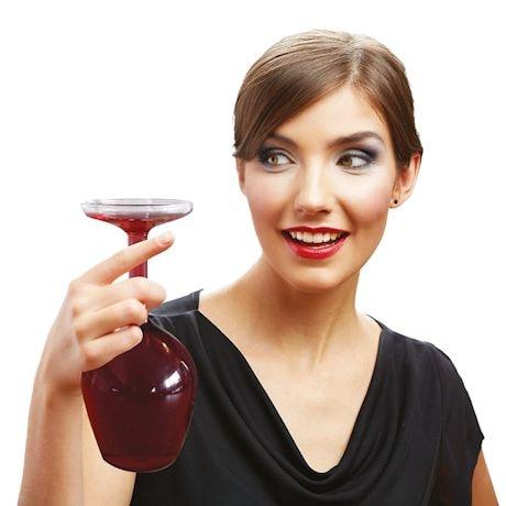 Upside-Down Wine Glass