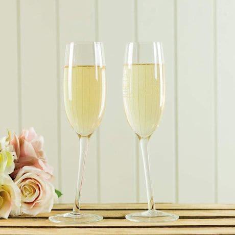 Tipsy Champagne Glasses
