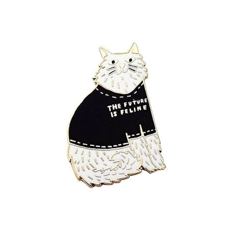 Future is Feline Jewelry - Lapel Pin or Necklace