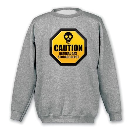 Caution Natural Gas Storage Depot T-Shirts
