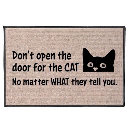 Don't Open The Door Cat Doormat