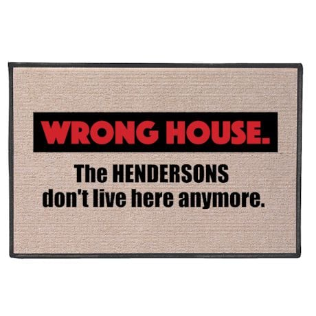 Personalized Wrong House Doormat