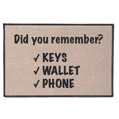 Did You Remember Doormat