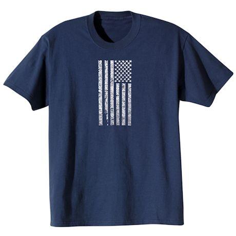 American Hero Flag Anthem T-Shirts