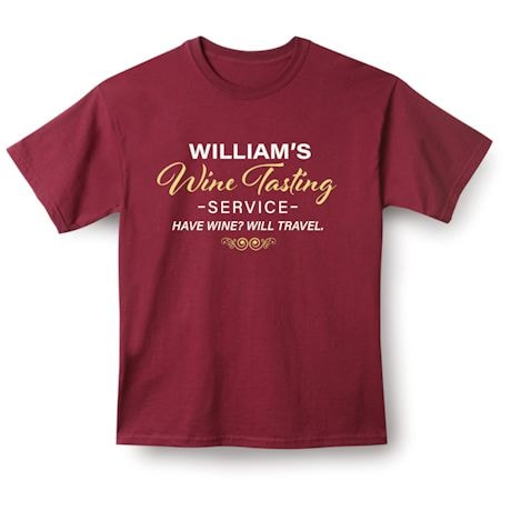 Personalized Wine Tasting Service Shirts
