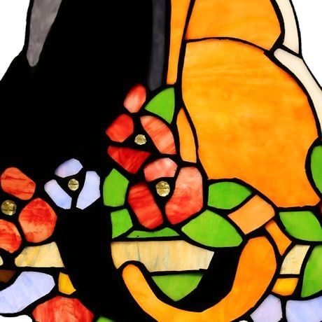 Stained Glass Cats In The Garden Window Panel