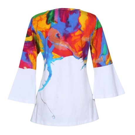 Watercolor Madness ¾ Sleeve Top