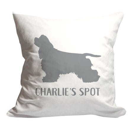 Personalized Dogs Spot Throw Pillow