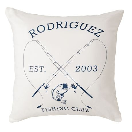 Personalized Fishing Club Throw Pillow