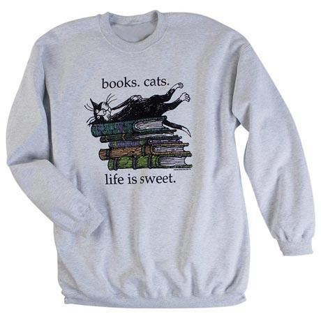 Edward Gorey Life Is Sweet Sweatshirt