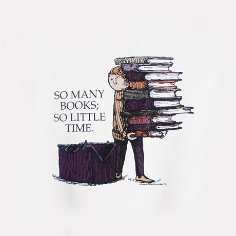 EDWARD GOREY SO MANY BOOKS SWEATSHIRT
