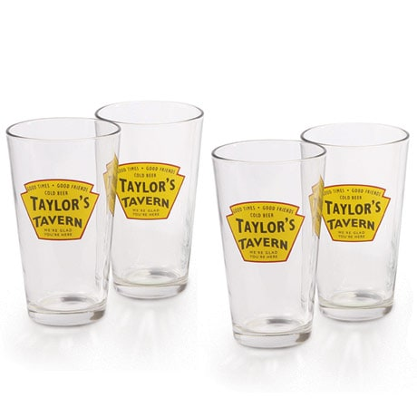 Personalized Tavern Pint Glasses (Set Of 4)